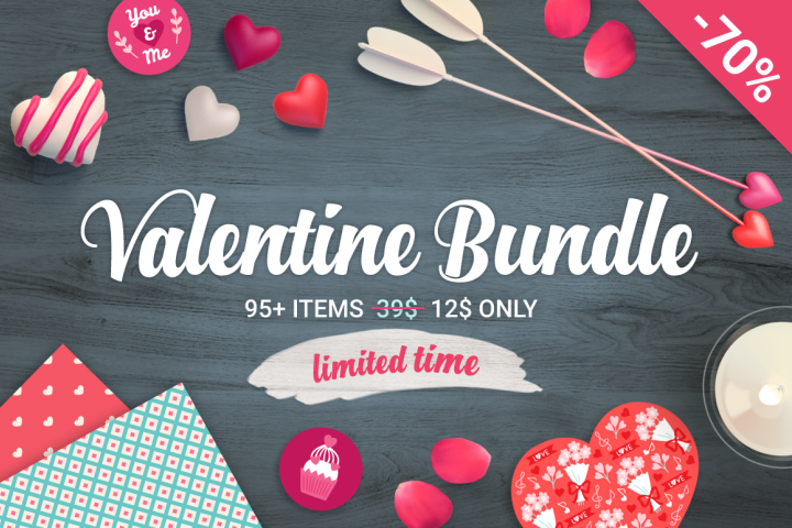 70 Off - Valentine Big Bundle