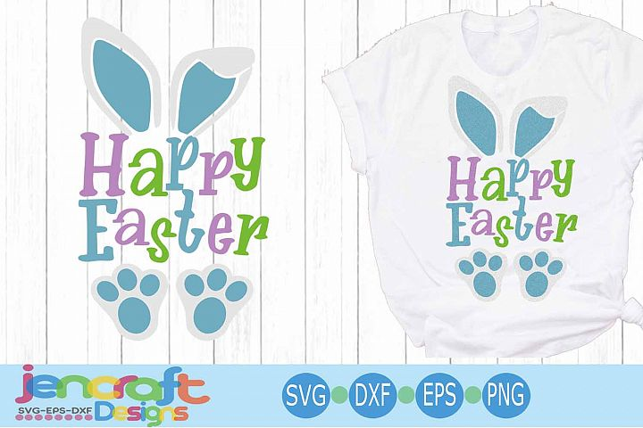 Happy Easter SVG, Easter SVG, Bunny ears Spring svg