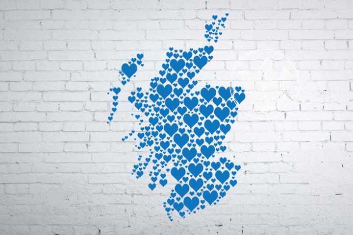 Scotland heart map jpg, png, eps, pdf