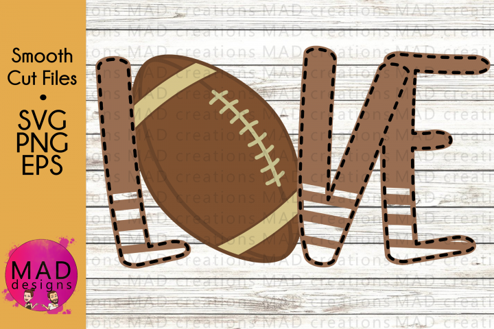 Sports - Love Football - SVG, PNG, EPS