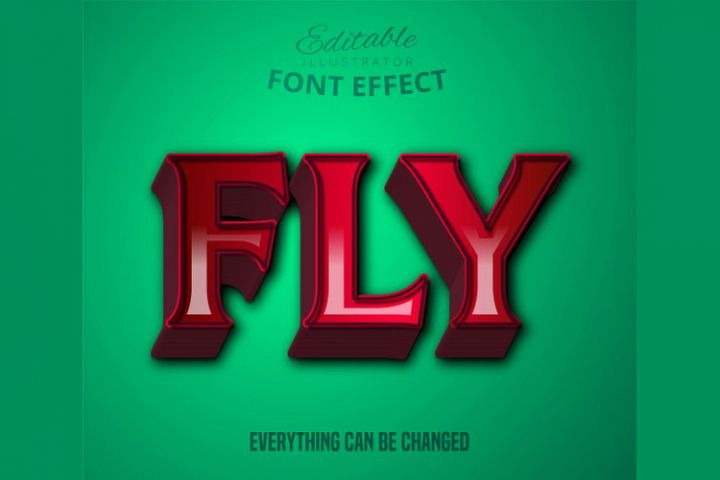 Fly text, editable text effect