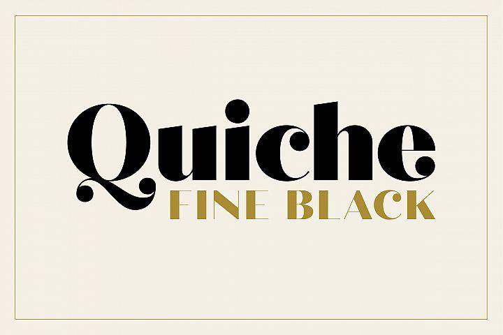 Quiche Fine Black Font