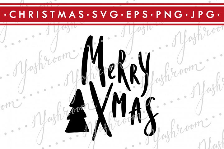 Merry Christmas - Quote SVG Cut File Silhouette