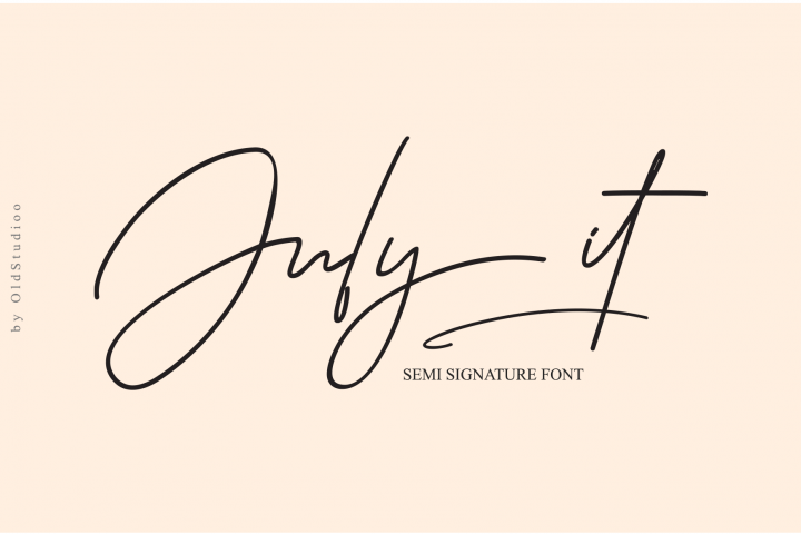 July it Semi Signature Font