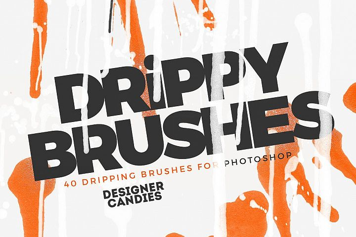 Drippy Brushes 40 Dripping Brushes for Photoshop