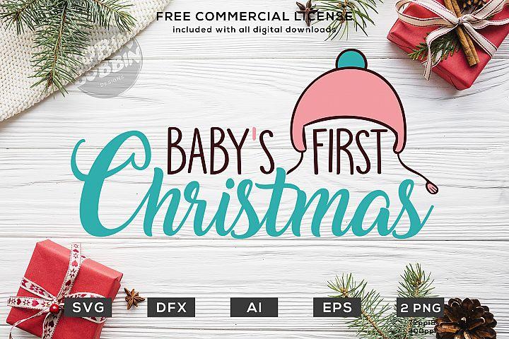 Babys First Christmas Design SVG DXF PNG EPS