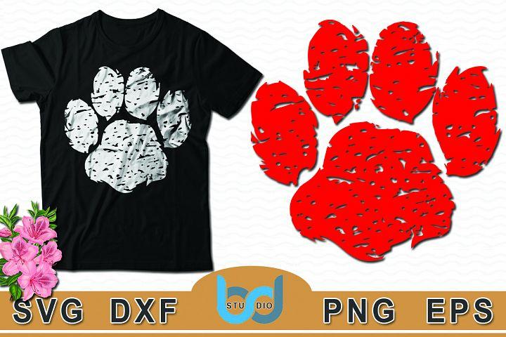 Dog Paw SVG, Dog Paw SVG Tshirt Design.