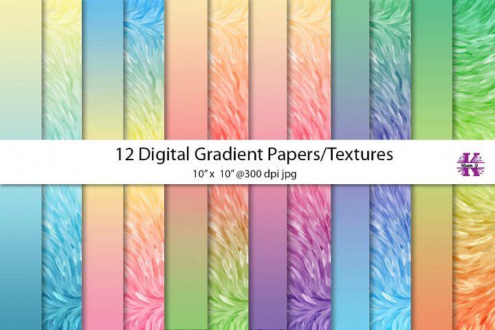 Digital Gradient papers/textures - jpgs