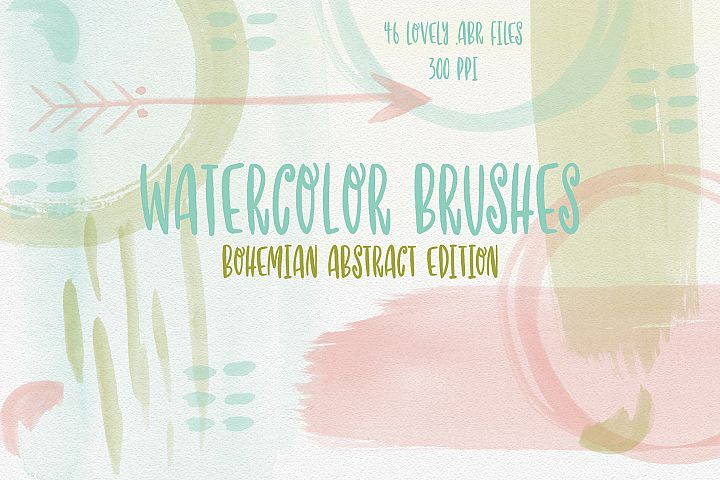 Watercolor Brushes Abstract, Photoshop Brushes