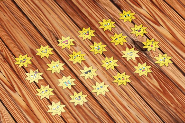 Sunny Sun Emoji Set