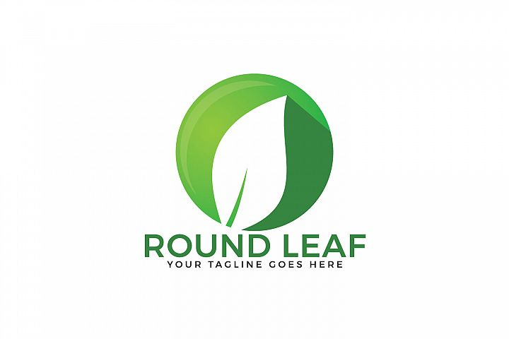 Round Leaf Logo Design.