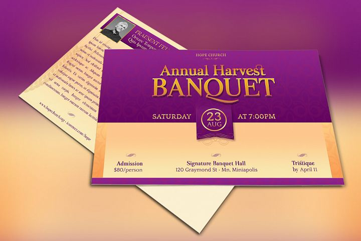 Church Gala Invitation Template