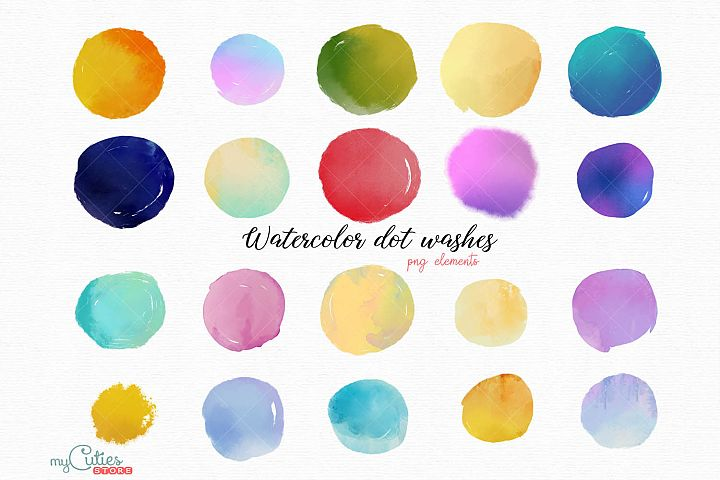 Ethereal watercolor splash png elements