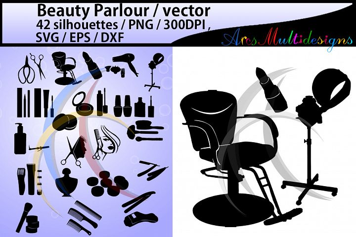 Beauty Parlour SVG Vector / EPS /Dxf / PNG / beauty parlour silhouette / fashion silhouette / beauty parlour clipart / vector / 300 dpi