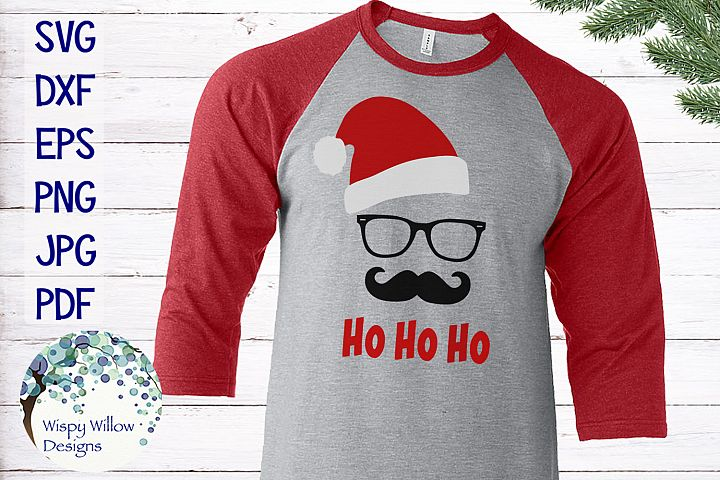 Ho Ho Ho | Hipster Santa Claus | Christmas SVG