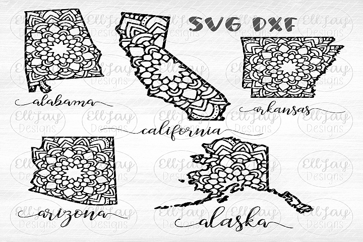 50 Mandala State Designs