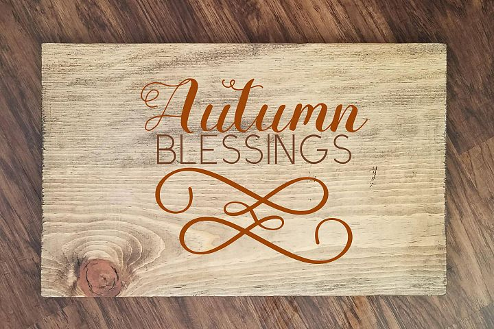 Autumn Blessings SVG Png Dxf eps