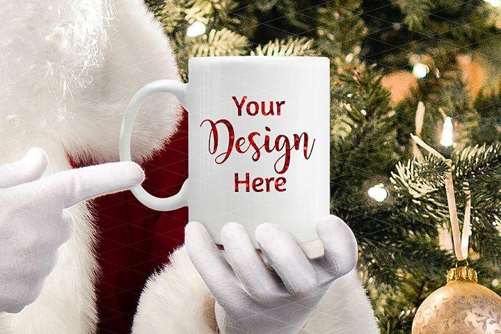 Christmas Mug Mockup with Santa