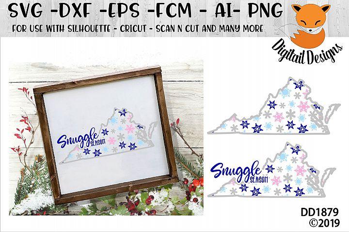 Virginia Snowflake Winter SVG