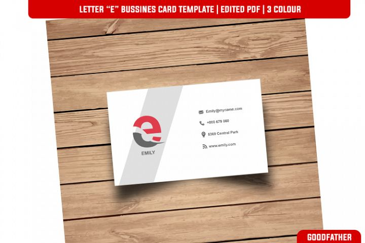 Letter E Creative Bussines Card Template