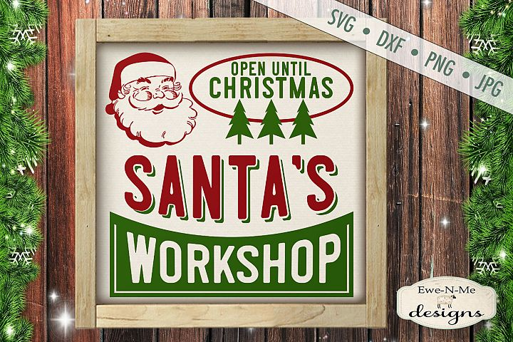 Santas Workshop - Retro Christmas - SVG DXF