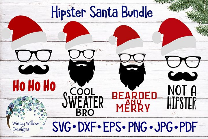 Hipster Santa Claus Bundle | Christmas SVG