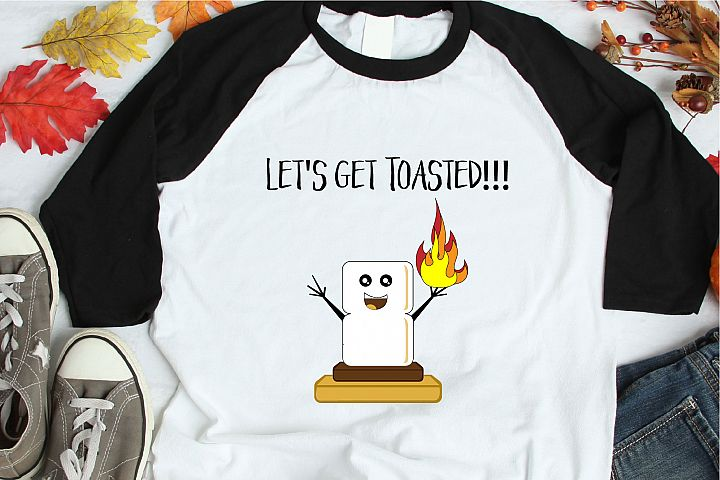 Smores SVG, Lets Get Toasted, Camping Sublimation, Autumn