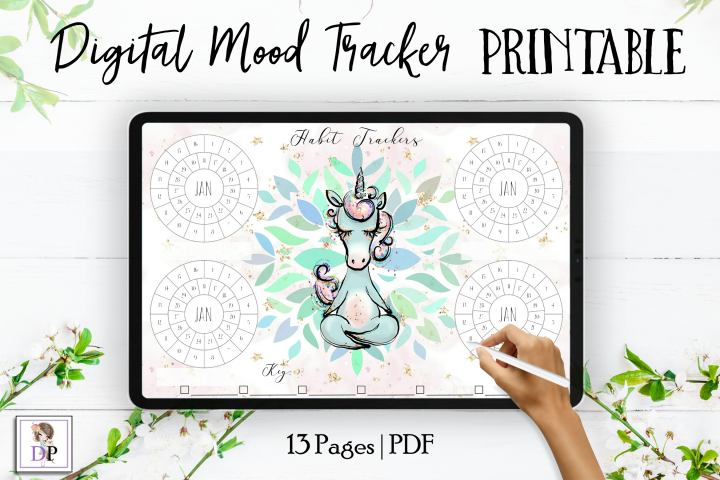 Digital Habit Trackers Y5 Yoga Series for Planner PRINTABLE