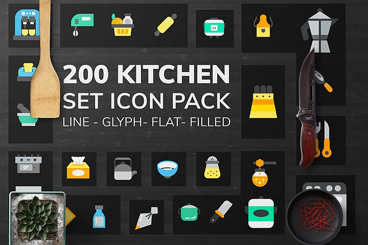 200 Kitchen Icon Pack