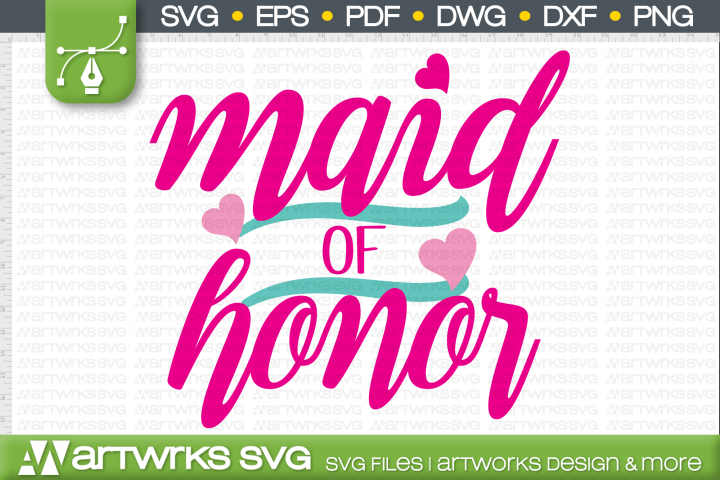 Bachelorette party SVG files for Cricut   Maid of honor