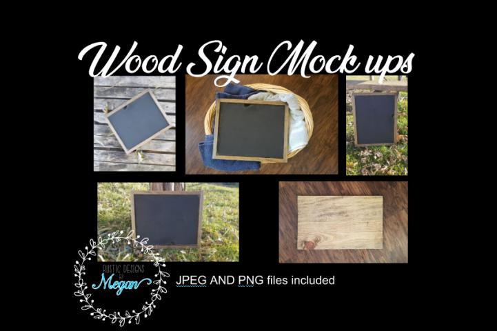 Wood sign Mockups