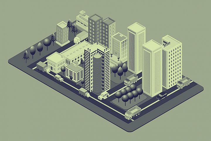 Isometric City Illustration 04
