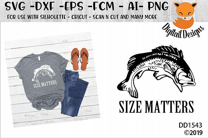 Size Matters Fishing SVG
