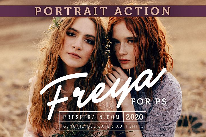 Freya Portrait Action for Photoshop