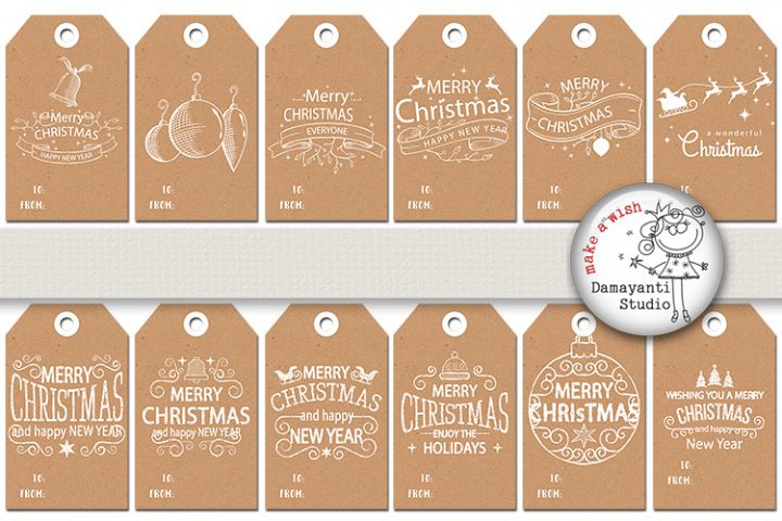 FREE COMMERCIAL USE Christmas Tags