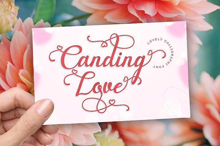 Canding Love - Script font Type face