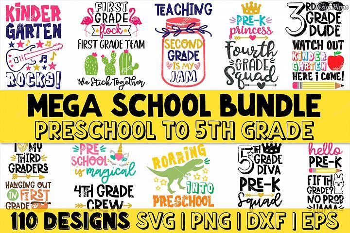 Mega School Bundle of 110 Designs SVG DXF PNG Cutting Files