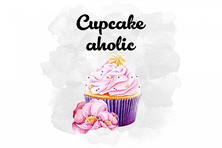 Cupcake Watercolor Design