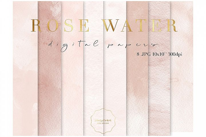 Blush Pink Watercolor Texture Papers