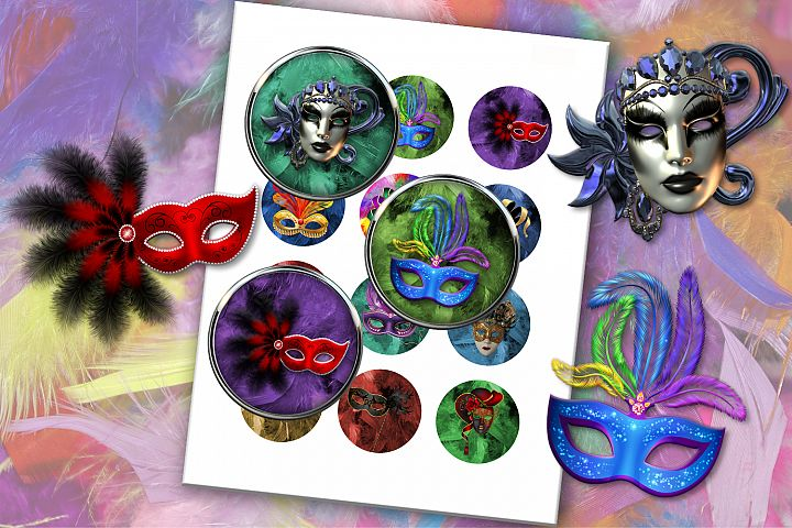 Venice Carnival, Venice Masks, Printable Images,BLACK FRIDAY