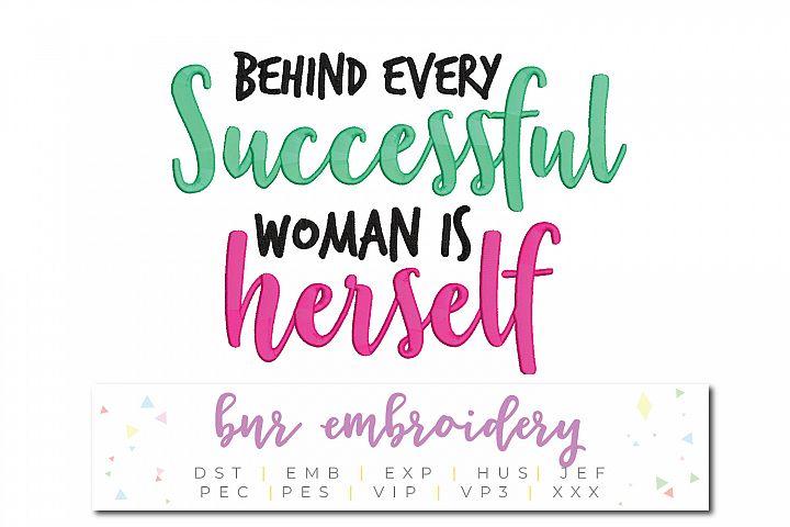 Girl Boss Machine Embroidery Design