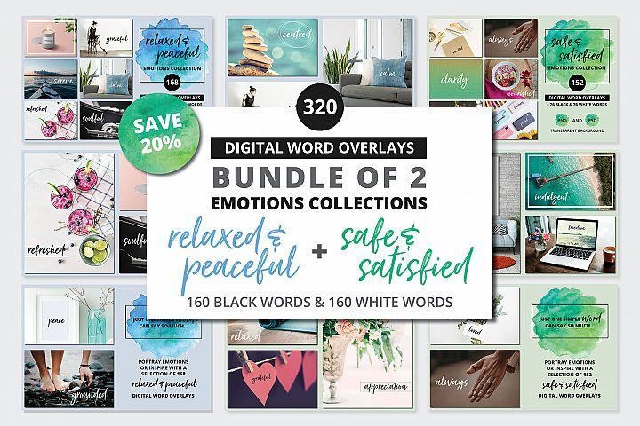 Digital Word Overlay BUNDLE - 320 Peaceful & Safe Emotions