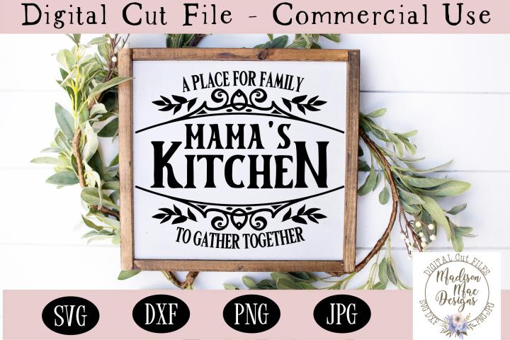 Mamas Kitchen SVG, Kitchen Sign SVG, Serving Platter SVG