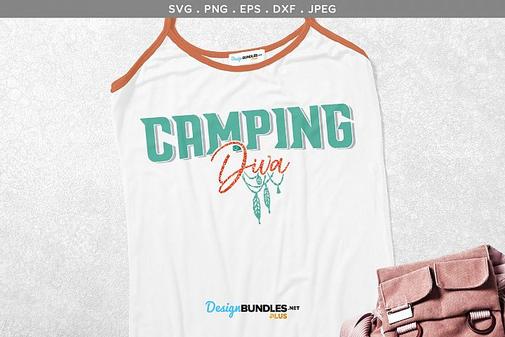 Camping Diva - svg & printable
