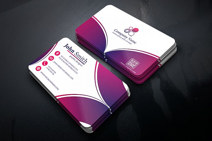 Abstract Business Card Design with 2 different colors