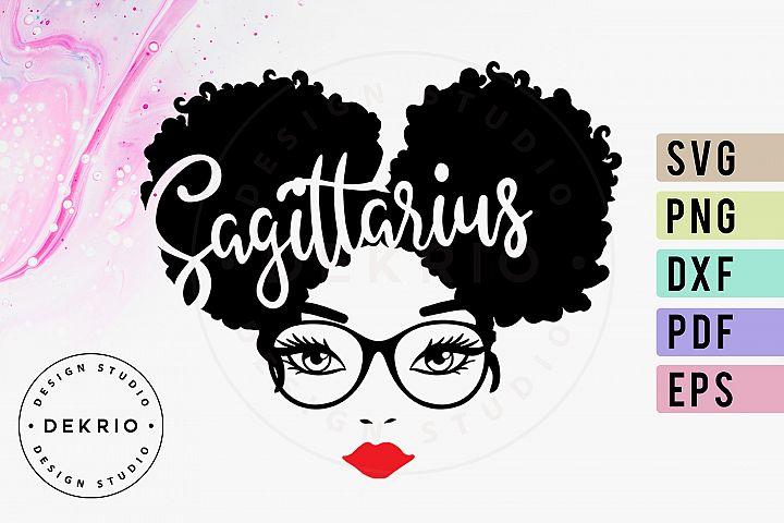 Sagittarius Afro Woman Svg Png Dxf Eps Pdf Files 380594