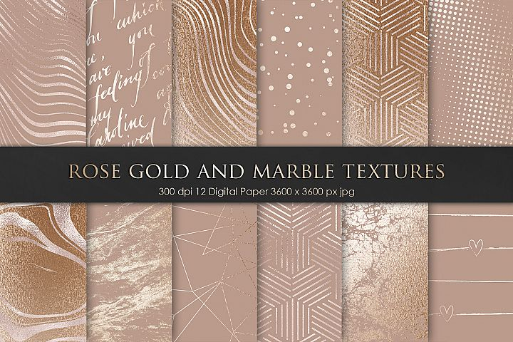 Rose Gold Bronze Marble Textures