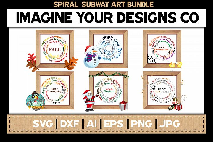 Spiral Subway Art Bundle, SVG Cut File, Sublimation