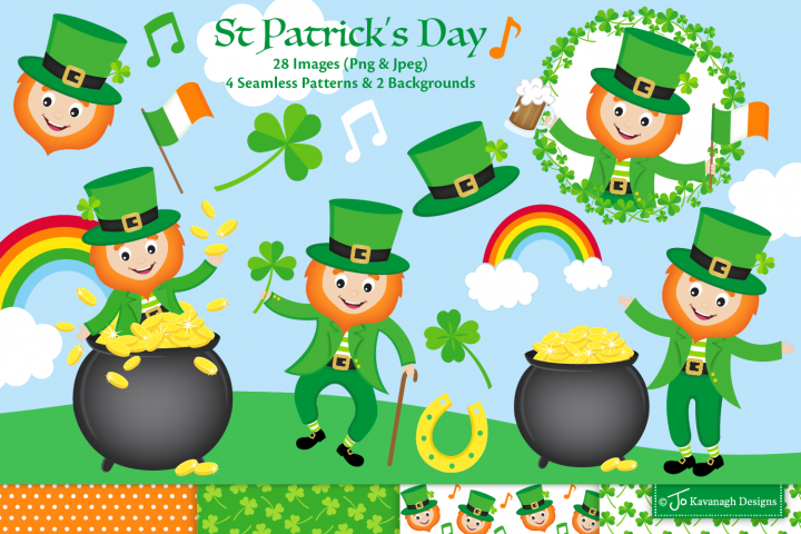 St Patricks Day clipart, st patricks day graphics -C44