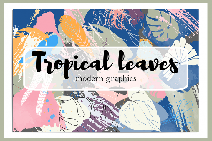 Tropical leaves modern graphics